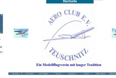 Neugestaltung der Homepage des AERO-CLUB Teuschnitz e.V.